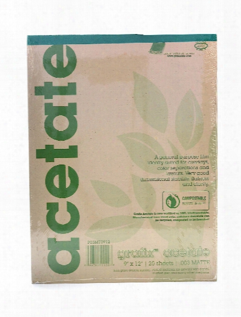 Matte Acetate Film Pads 0.005 11 In. X 14 In. Pad Of 25