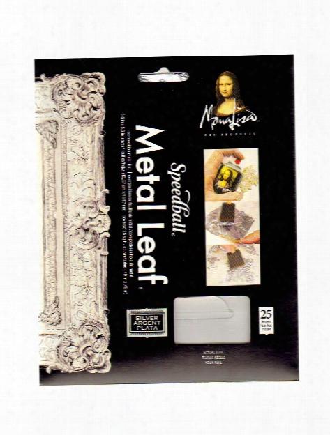 Metal Leaf Imitation Silver Pack Of 25 Sheets