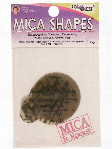 Mica Shapes 2 1 4 In. Large  Rings Pack Of 10