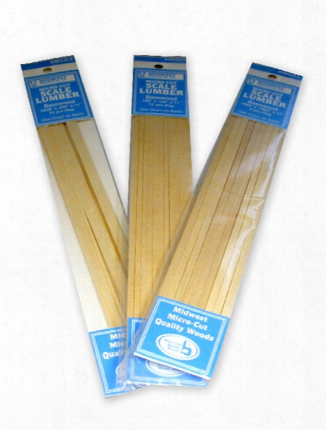 Micro-cut Basswood Scale Lumber 0.042 In. 0.042 In. X 11 In. Pack Of 15