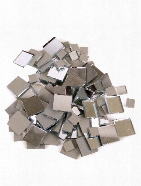 Mirrored Glass Tile Square 3 8 In. 25 Tiles Bag