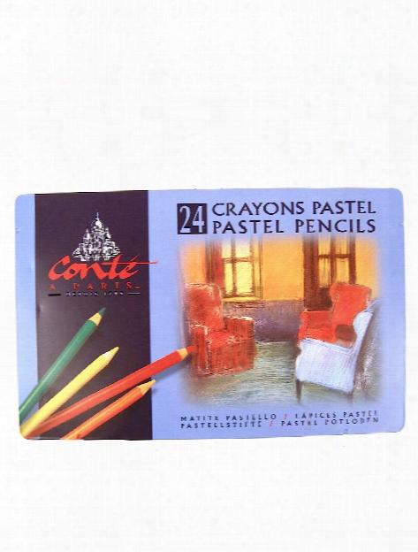 Pastel P Encil Sets Tin Of 24