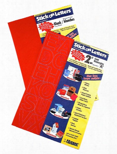 Red Vinyl Stick-on Letters 6 In. Gothic Capitals