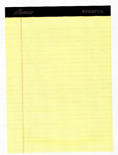 Ruled Legal Pads White 8 1 2 In. X 11 In.