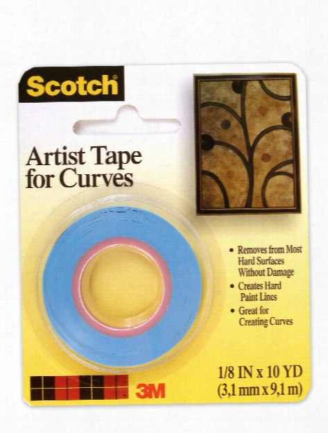 Scotch Artist Tape For Curves 1 8 In. X 10 Yd.