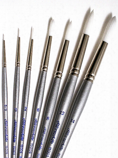 Silverwhite Series Synthetic Brushes Short Handle 4 Fan