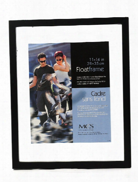 Solid Wood Float Frame Black 5 1 2 In. X 13 In.