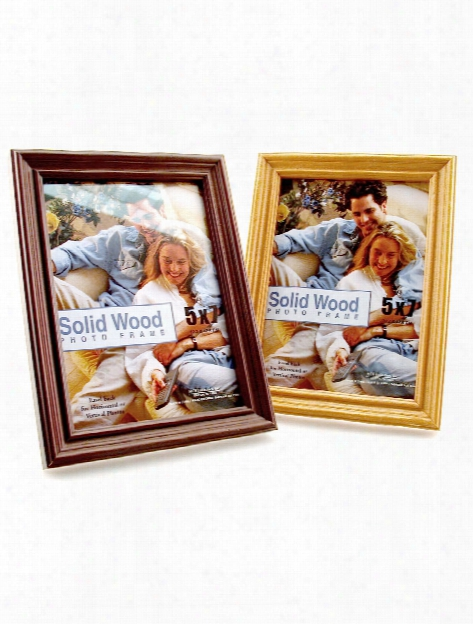 Solid Wood Frame Walnut 8 In. X 10 In.