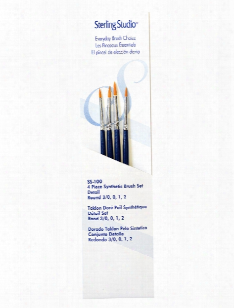 Sterling Studio Brush Sets Filberts Ovals Set Of 4