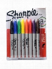 Fine Point Permanent Marker Set set of 8