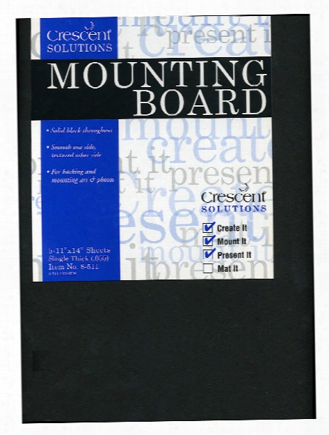 Ultra-black Moujting Board 32 In. X 40 In. Single Thick Ultra-black 8 Each