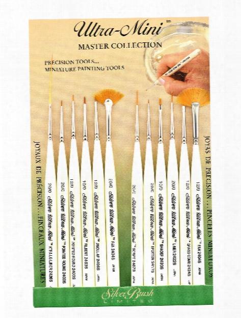 Ultra Mini Brush Sets Set Of 12 Detail Painting Set
