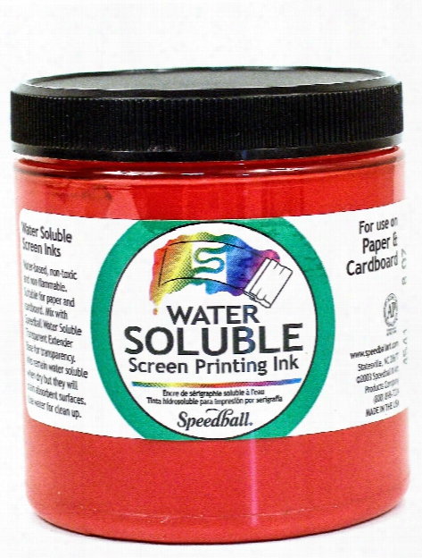 Water Soluble Screen Printing Ink Black 8 Oz.