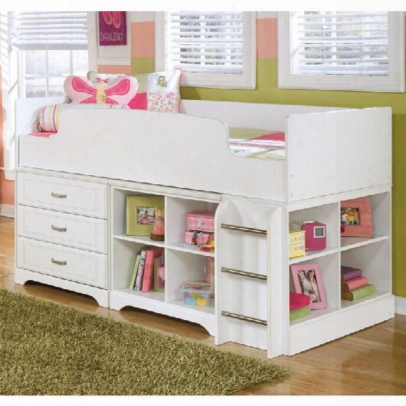 Ashley Lulu Wood Twin Loft Bed In White