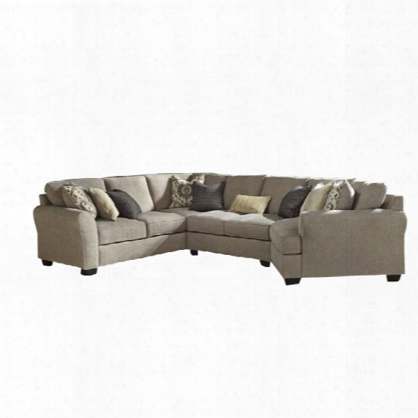 Ashley Pantomine 4 Piece Left Facing Sectional In Driftwood