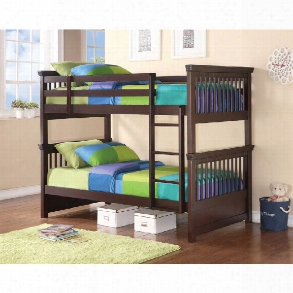 Coaster Oliver Twin Over Twin Bunk Bed In Cappuccino