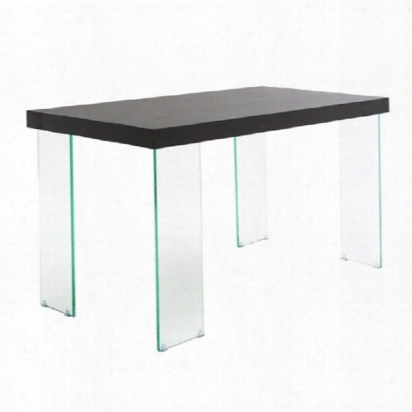 Eurostylle Cabrio Desk 51 In Clear And Wenge
