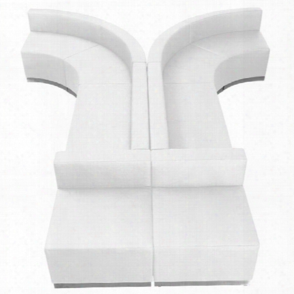 Flash Furniture Hercules Alon 8 Piece Reception Seating In White