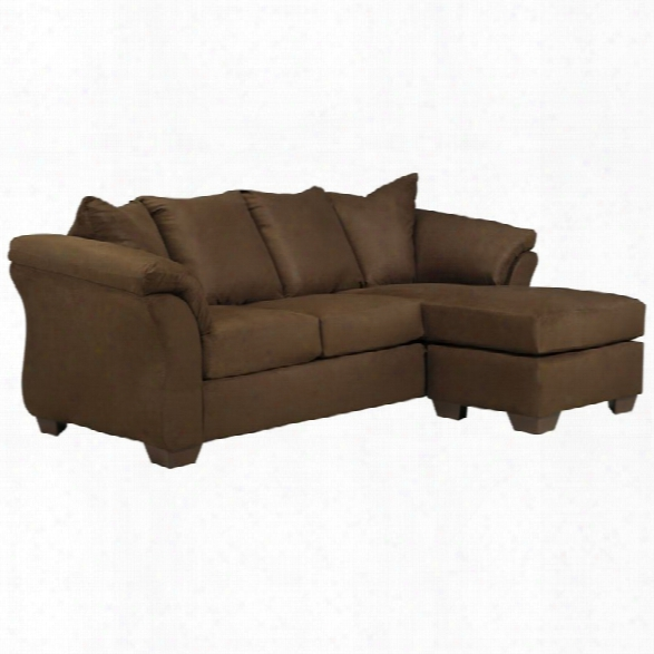 Flash Furniture Microfiber  Right Facing Sectional In Cafe