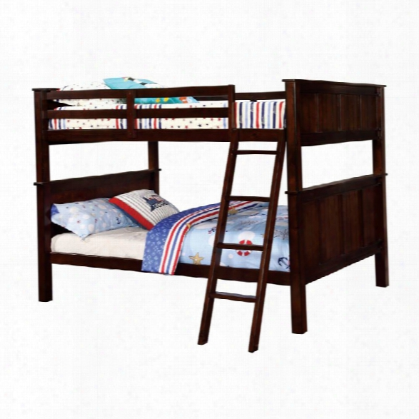 Furniture Of America Cory Full Over Full Bunk Bed In Dark Walnut
