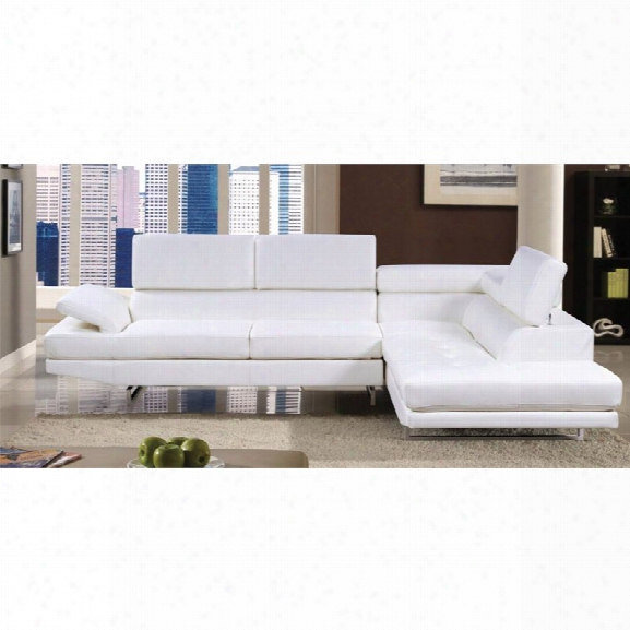 Furniture Of America Fuchantel Sectional In White