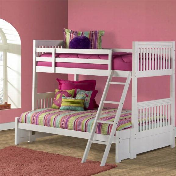 Hillsdale Lauren Twin Over Full Bunk Bed In White