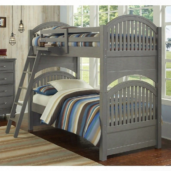 Ne Kids Lake House Adrian Twin Over Twin Bunk Bed In Stone