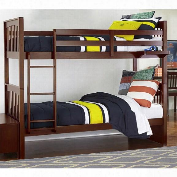Ne Kids Pulse Twin Over Twin Slat Bunk Bed In Cherry