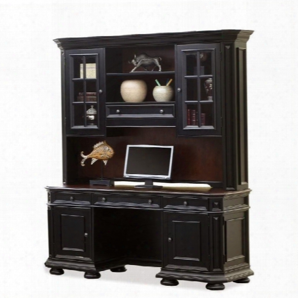 Riverside Furniture Allegro Computer Workstation In Rubbed Black