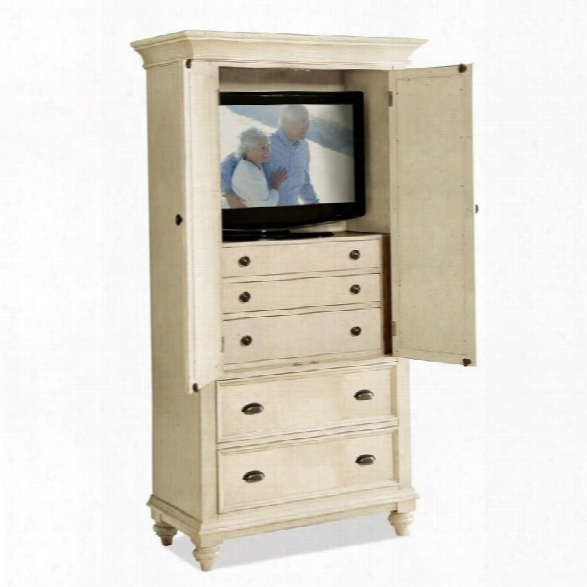 Riverside Furniture Coevntry Two Tone Armoire In Dover White