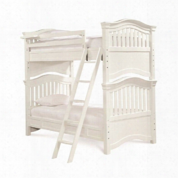 Smartstuff Classics 4.0 Twin Over Twin Bunk Bed In Summer White