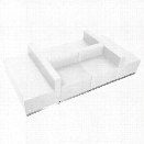 Flash Furniture Hercules Alon 6 Piece Reception Seating in White