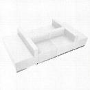 Flash Furniture Hercules Alon 6 Piece Reception Seating in White