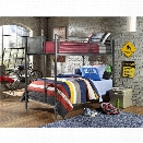 Hillsdale Urban Quarters Twin over Twin Bunk Bed in Black Steel