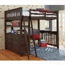 NE Kids Highlands Full Loft Bed in Espresso