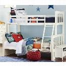 NE Kids Pulse Twin Over Full Slat Bunk Bed in White