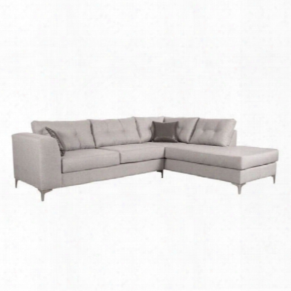 Zu Memphis Fabric Sectional In Smoke