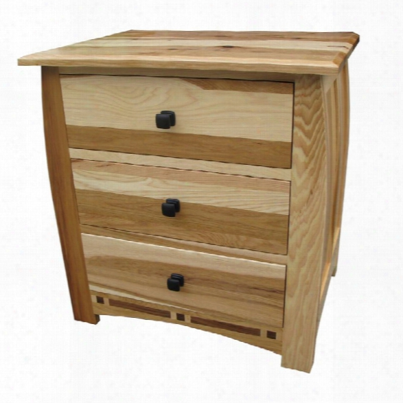 A-america Adamstown 3 Draweer Nightstand In Natural
