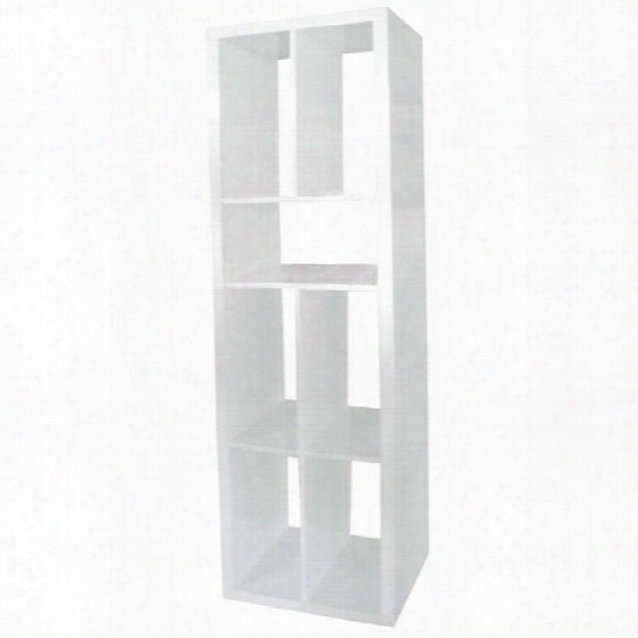 Eurostyle Ryn Shelving Unit In White Lacquer