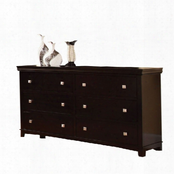 Furniture Of America Fanquite 6 Drawer Dresser In Espresso