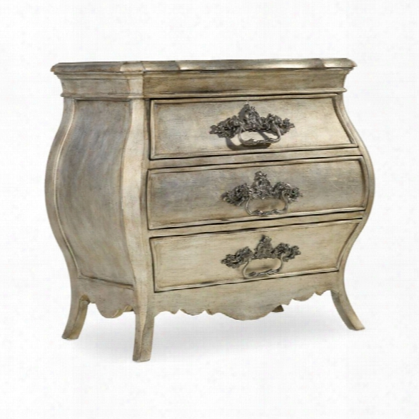 Hooker Furniture Sanctuary 3 Drawer Nightstand In Silver