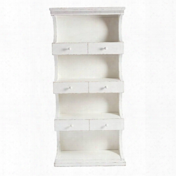 Juniper Dell Bookcase 17th Century White