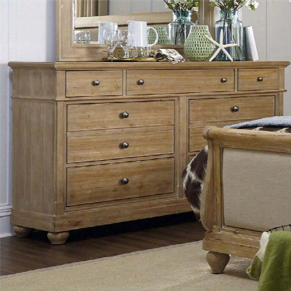 Liberty Furniture Harbor View 7 Drawer Dresser In Sand