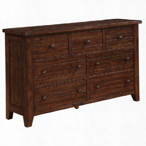 Modus Furniture Cally Dresser In Medium Brown