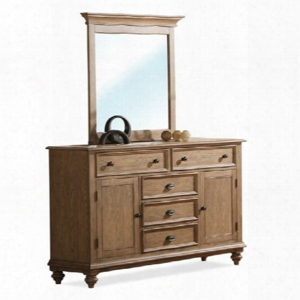 Riversde Furniture Coventry Dresser In Driftwood