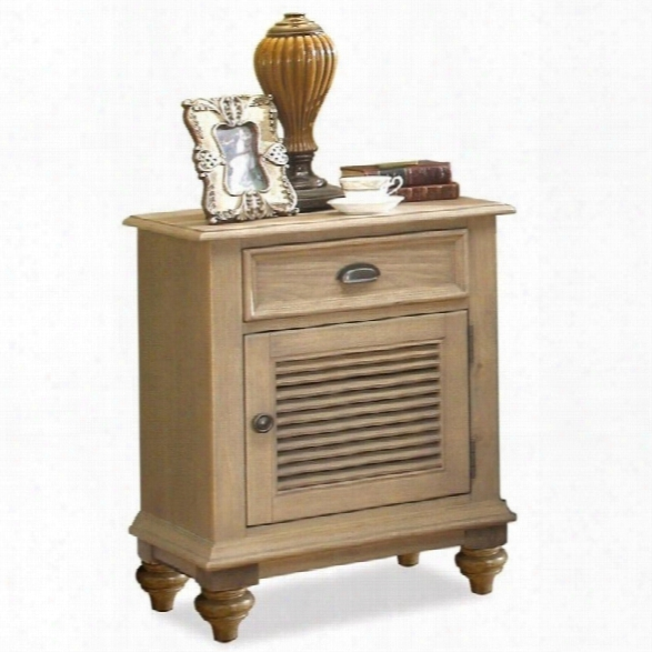 Riverside Furniture Coventry Shutter Door Nightstand In Driftwood