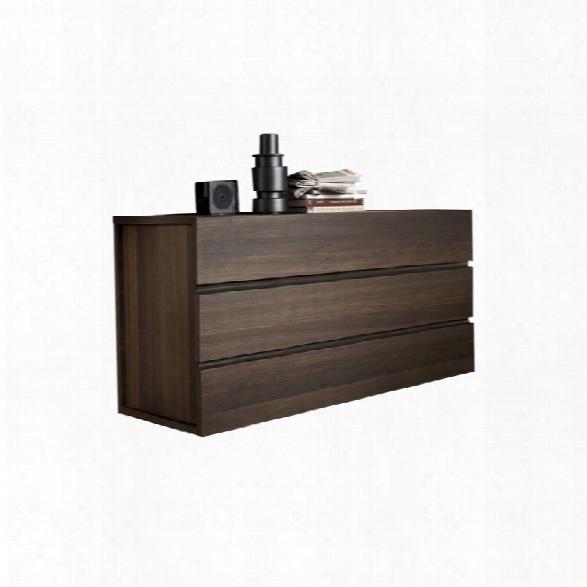 Rossetto Gola 3 Drawer Dresser In Termotrattato Oak