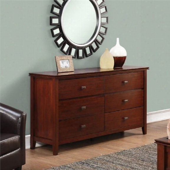 Simpli Home Artisan Media Chest In Auburn Brown