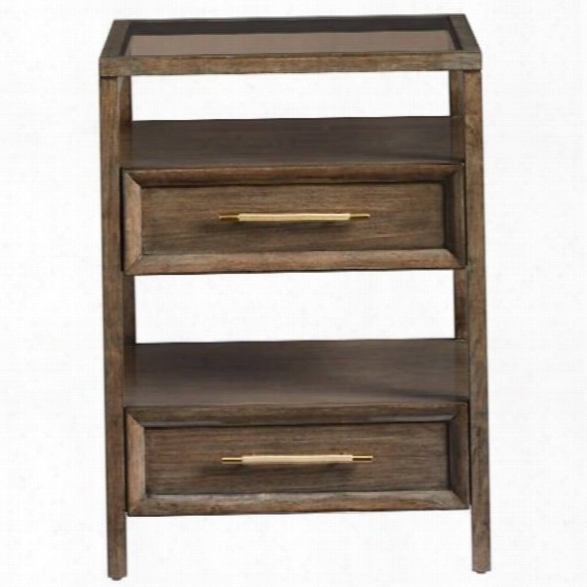 Stanley Furniture Panavista Archetype Telephone Table In Quicksilver