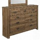 Ashley Cinrey 7 Drawer Dresser in Medium Brown